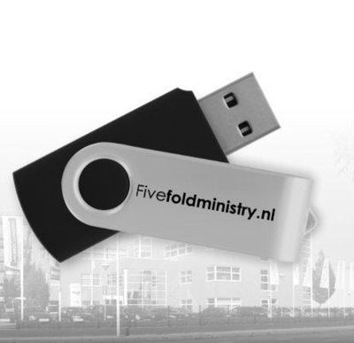 USB stick met opnamen Five Fold conferentie 4 en 5 mei 2018